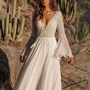 Beautiful boho wedding gown